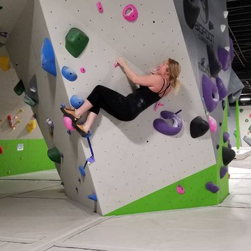 Want to add some core strength to your workout? Climbing is great for cross training and it is fun! #downtownmorganton #indoorclimbing