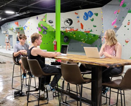 Want a place for your students to do Remote Learning?? Join Bigfoot Climbing Gym and make reservations for your spot. Bring your laptop and come hang out with your friends. Ages 13+  DM FOR MORE INFO #remotelearning #virtuallearning #indoorbouldering #ind