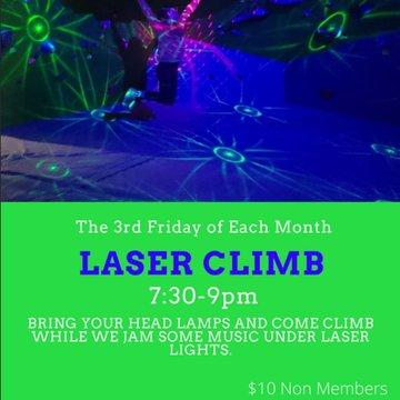 LASER CLIMB TONIGHT!! Bring your headlamp and come climb. $10 for non members after 7:30pm. #laserclimb #lasershow #indoorclimbing #indoorbouldering #downtownmorganton #downtownhickory #downtownlenoir #morgantonnc #morgantonlife #fridayvibes