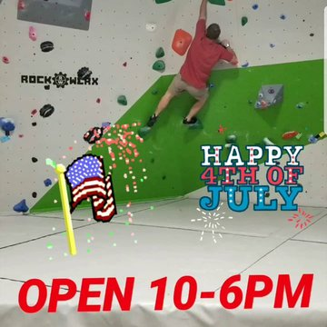 Join us today for the 4th. #downtownmorganton #fabcrawl #4thofjuly #indoorclimbing