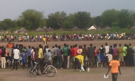 Thousands of spectators gather to watch the IDAT Soccer Tournament