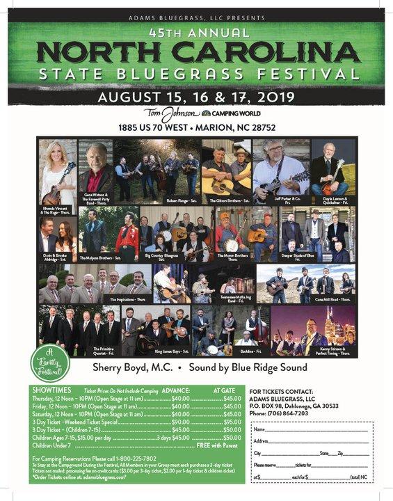 45thannualncbluegrassfest2019