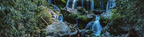 EditSmallSamDean 1Catawba Falls Waterfall with Girl Standing on Rock.jpg