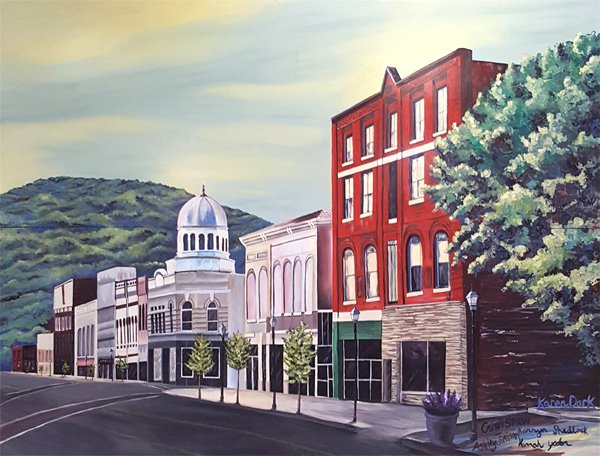 marion nc artwalk downtown icon mural