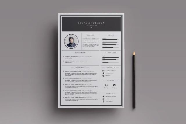 Elegant Resume Boris Vargas Graphic Design