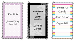 free personalized tic tac labels bridal party tees