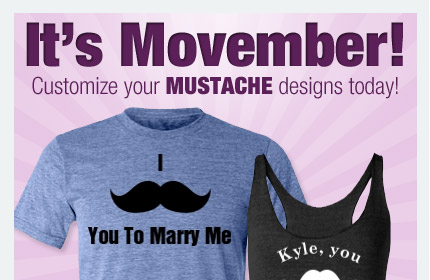 Movember Bridal Party Apparel