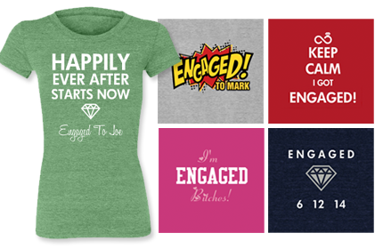 Just Engaged Shirts Preview