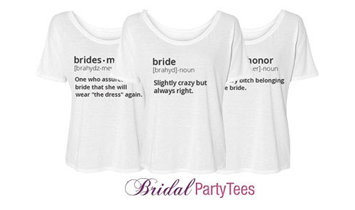 define your own bridal shirts bridal party tees