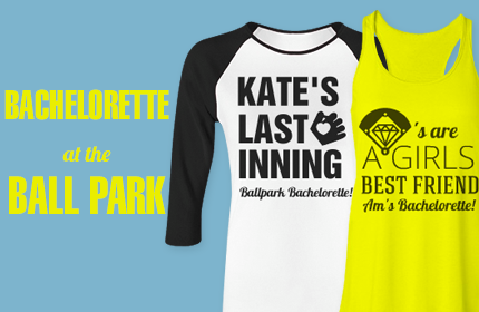 Take The Field In Style With Custom Baseball Bachelorette Party Shirts