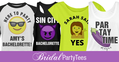 Wedding Emojis For Your Bridal Party Shirts