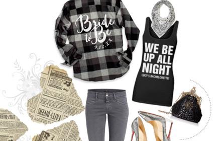 Custom Flannel Bride Shirt
