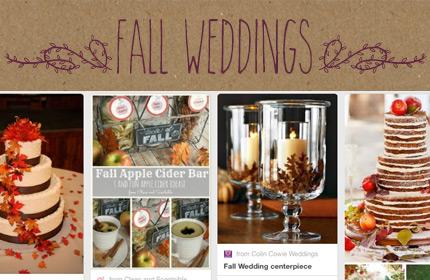Ideas For A Fall Wedding