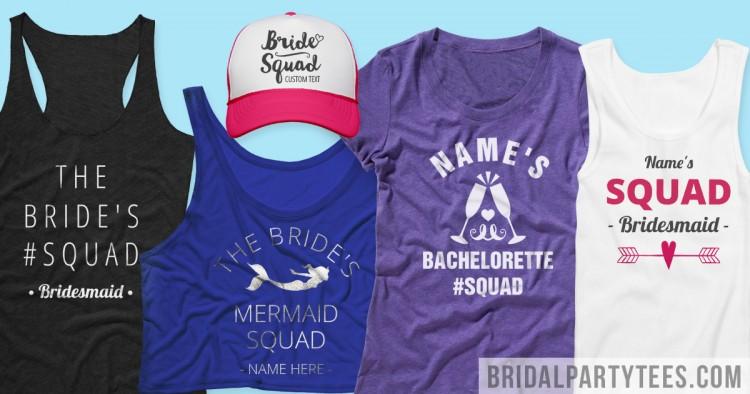 Bride Squad Shirts