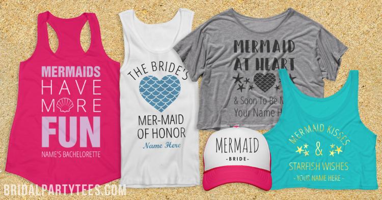 Mermaid Bachelorette Party Shirts