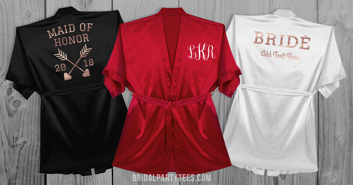 Bridal Custom Party Back Robes With Relax And Tees Sit XuwiTOPkZ