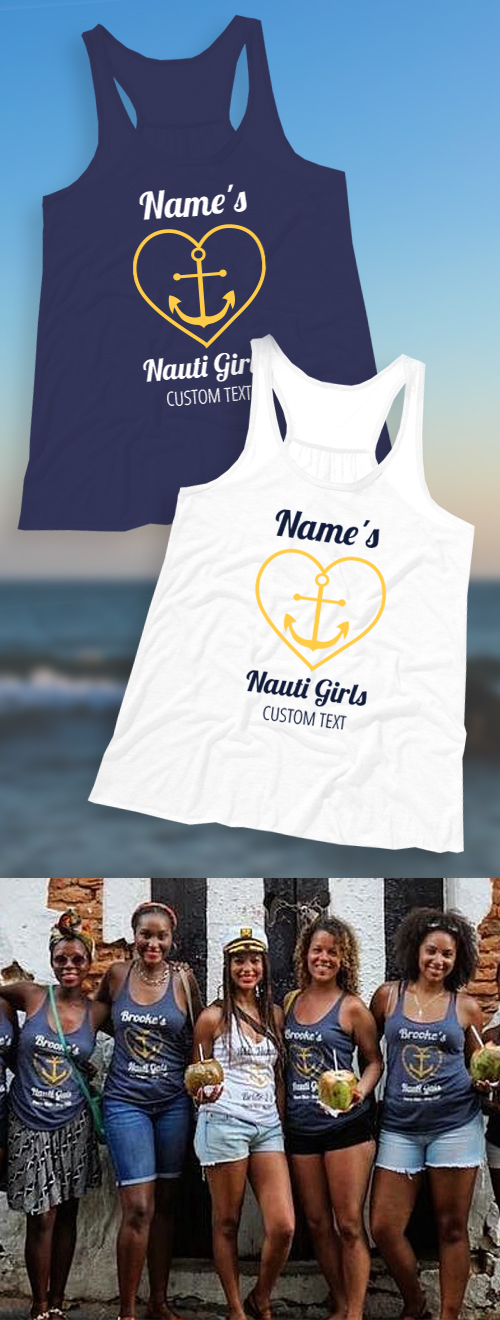 Nauti Girls Bachelorette Party Shirts