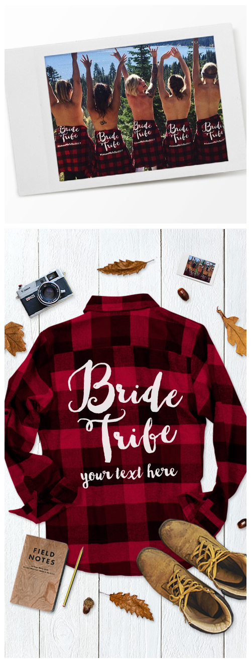 Custom Bride Tribe Flannels