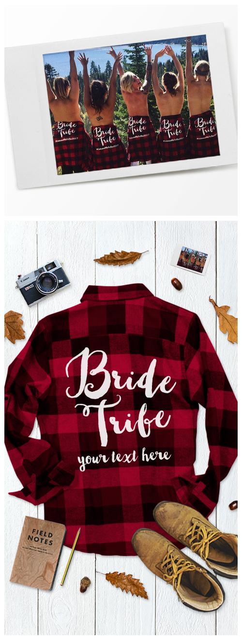 Custom Bride Tribe Flannels