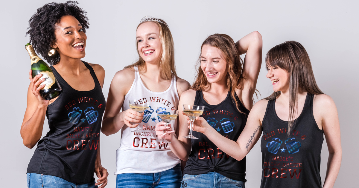 Custom 4th Of July Bachelorette Party Shirts Bridal Party Tees