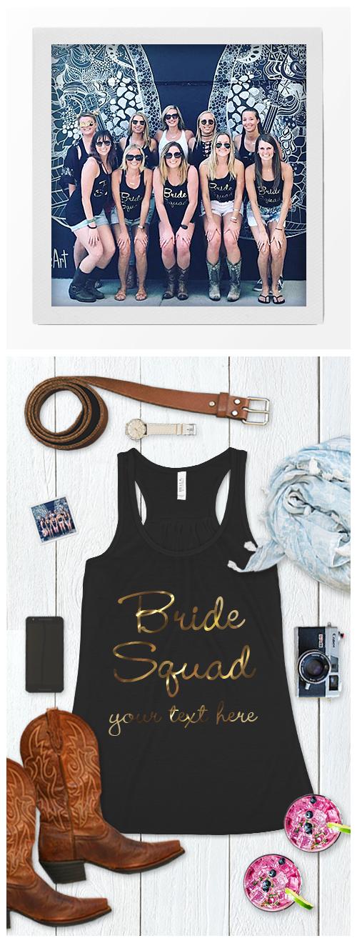 Nashville Bride Squad Shirts