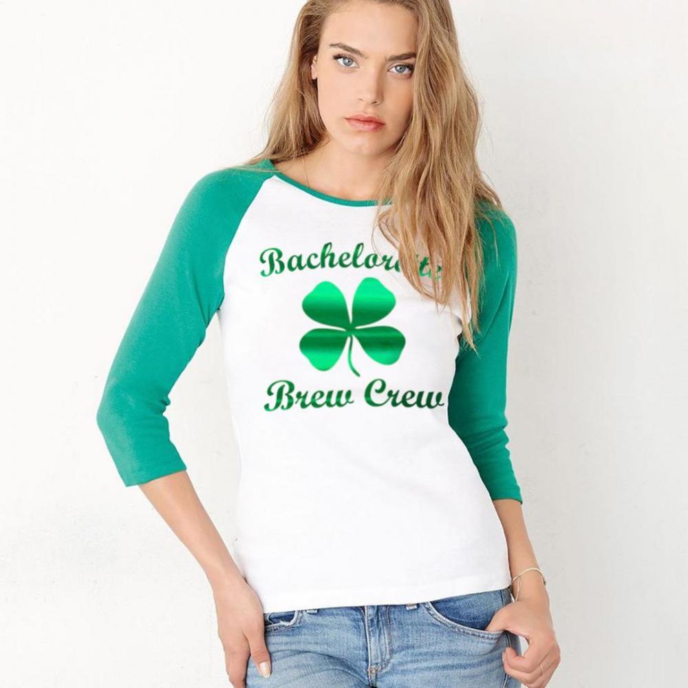 Metallic Bachelorette Irish Raglan