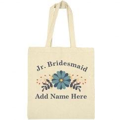 Custom Flower Jr. Bridesmaid Gift