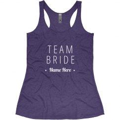 Custom Team Bride Name
