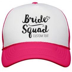 Snap Back Bride Squad Heart
