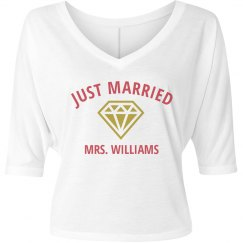 Just Married Tee with Diamond Ring
