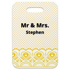 Mr Mrs Luggage Tag