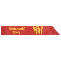 Bridesmaid Sashes Party