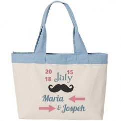 Just Married Canvas Bag