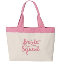 Bride Squad Canvas Bag