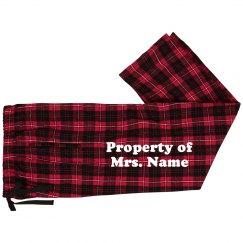 Property of Mrs. Custom Name