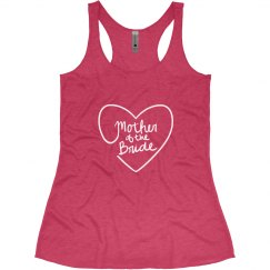 Mother of the Bride Tank Top with Heart
