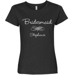 Bridesmaid Script w/Heart