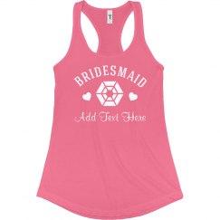 Bling Bridesmaid w/ Name
