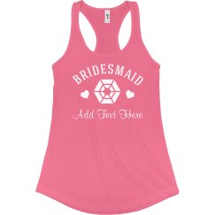Bling Bridesmaid w/ Name
