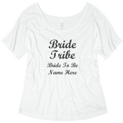 Bling Tee Bride Tribe Custom Tee