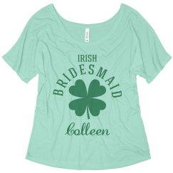 St. Patrick's Irish Bridesmaid