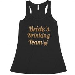 Bride's Drinking Team Bachelorette Tank tops
