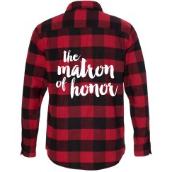 Matron of Honor Flannel Shirts