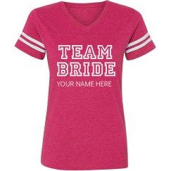 Custom Varsity Team Bride