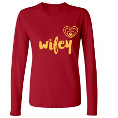 Wifey Jersey Thermal Tee