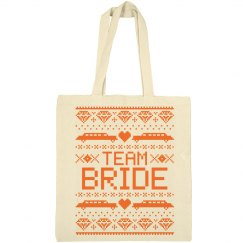 Ugly Xmas Team Bride Tote