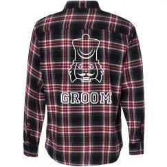 Nut Cracker Groom Flannel Shirt