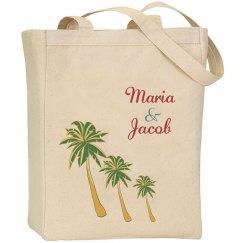 Beach Wedding Tote Bag