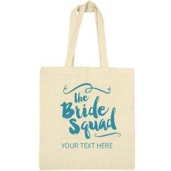 Trendy Script Bride Squad Bag