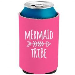Mermaid Bride Tribe Neon Koozies